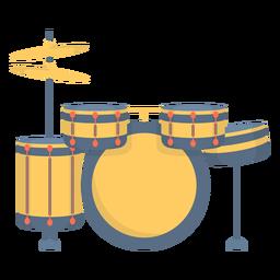 Tambor de música plano