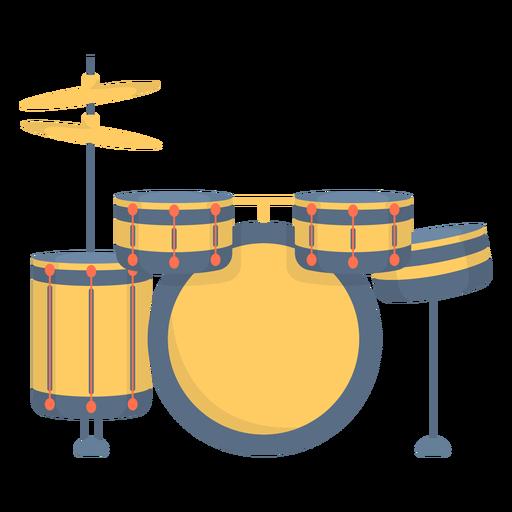 Music drum flat
