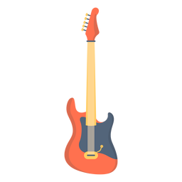 Music electric guitar flat