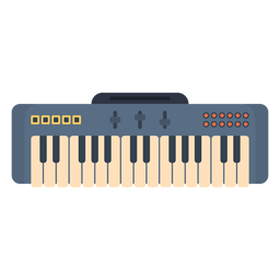 Music electronic keyboard flat