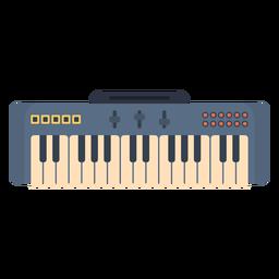 Music electronic keyboard flat