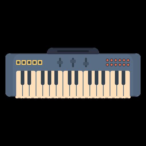 Music electronic keyboard flat Transparent PNG