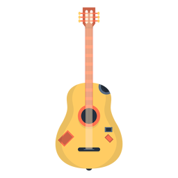 Music guitar flat