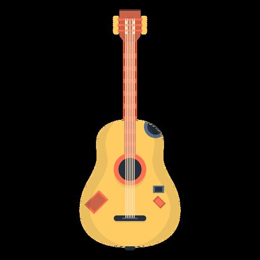 Guitarra musical plana