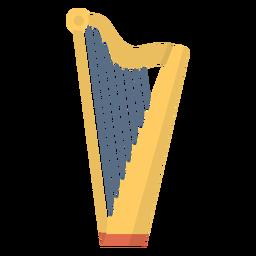 Arpa de música plana