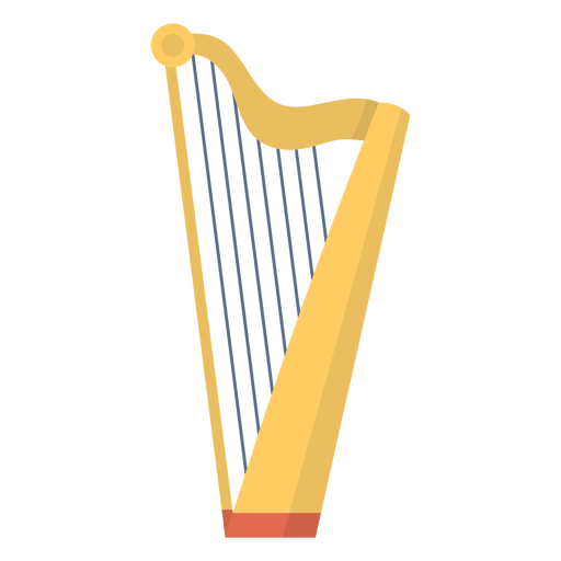 Music harp flat Transparent PNG