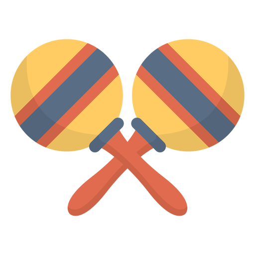 Music maracas flat Transparent PNG