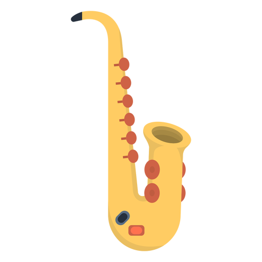 Music saxophone flat