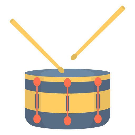 Music snare drum flat Transparent PNG