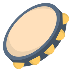 Musik Tamburin flach