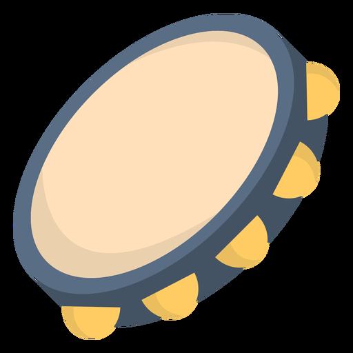 Music tambourine flat