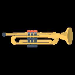 Trompete de música plana