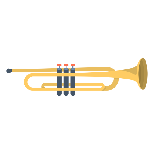 Music trumpet flat Transparent PNG
