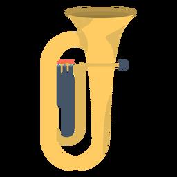 Tuba de música plana