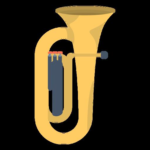 Música tuba plana