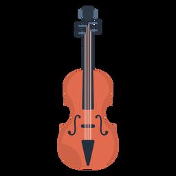 Violino de música plana