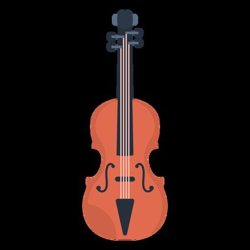 Plano de violín de música