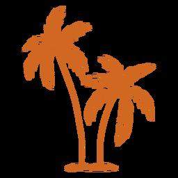 Dibujado a mano de cocotero de palma