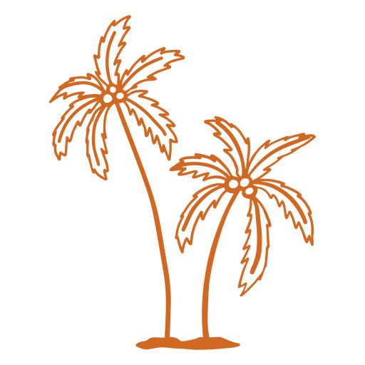 Palm coconut tree hand drawn Transparent PNG