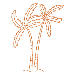 Palm tree hand drawn