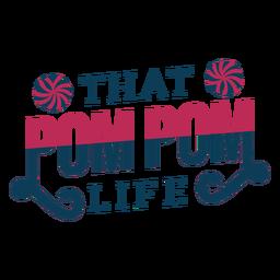 Letras de pompones