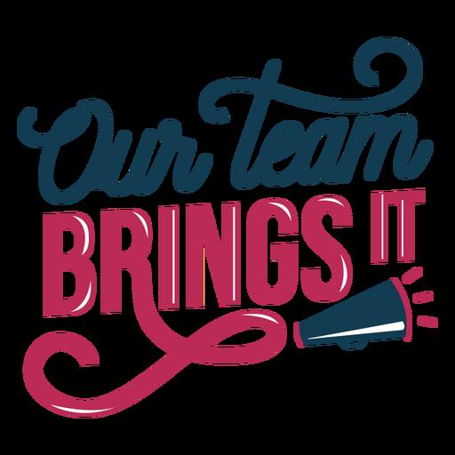 Team lettering