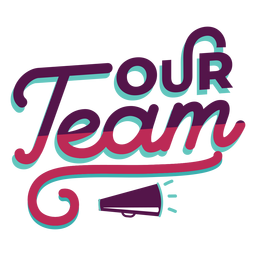 Team effort lettering