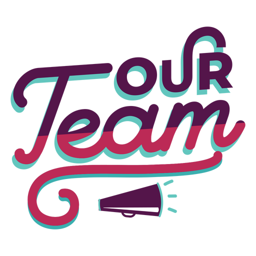 Team effort lettering