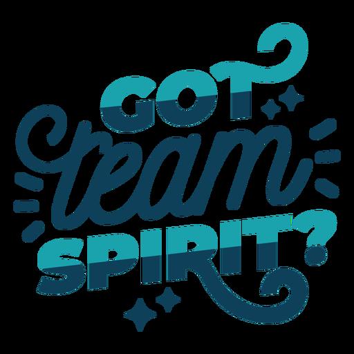 Letras de espíritu de equipo