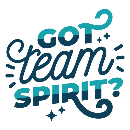Team spirit lettering