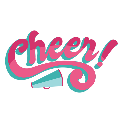 To cheer lettering