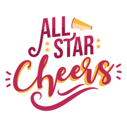 To cheer all star lettering