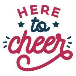 To cheer best lettering