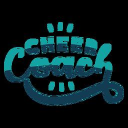 Para animar las letras del entrenador