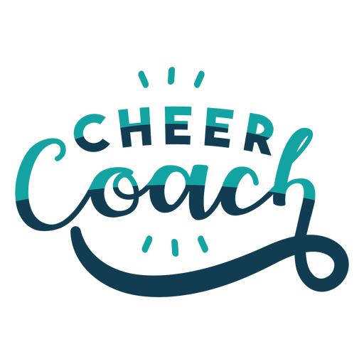 To cheer coach lettering