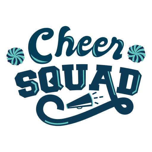 To cheer squad lettering