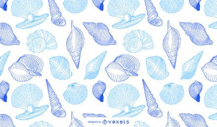 Seashells pattern design