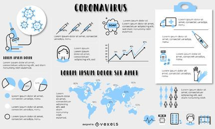 Coronavirus infographic elements template