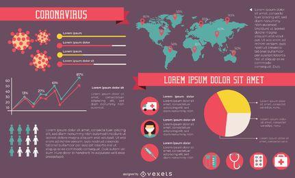 Elementos infográficos de Covid-19