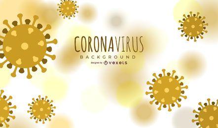 Hintergrunddesign der Coronavirus-Zelle
