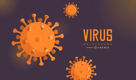 Fundo de célula de coronavírus