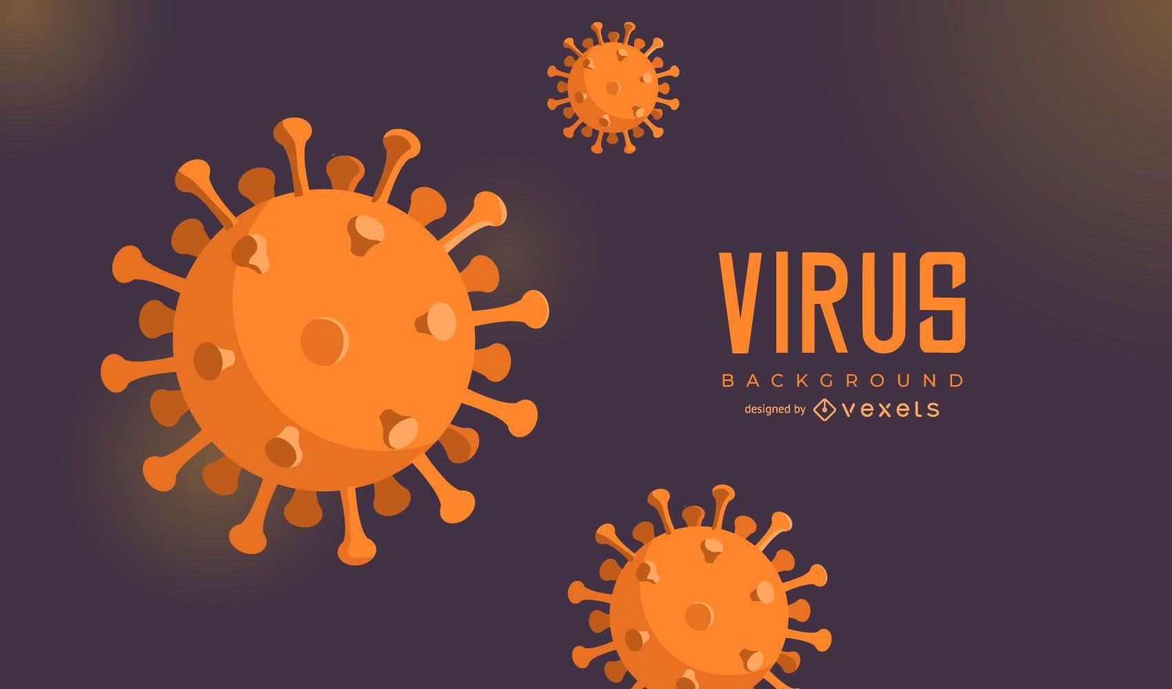 Fondo de células de coronavirus
