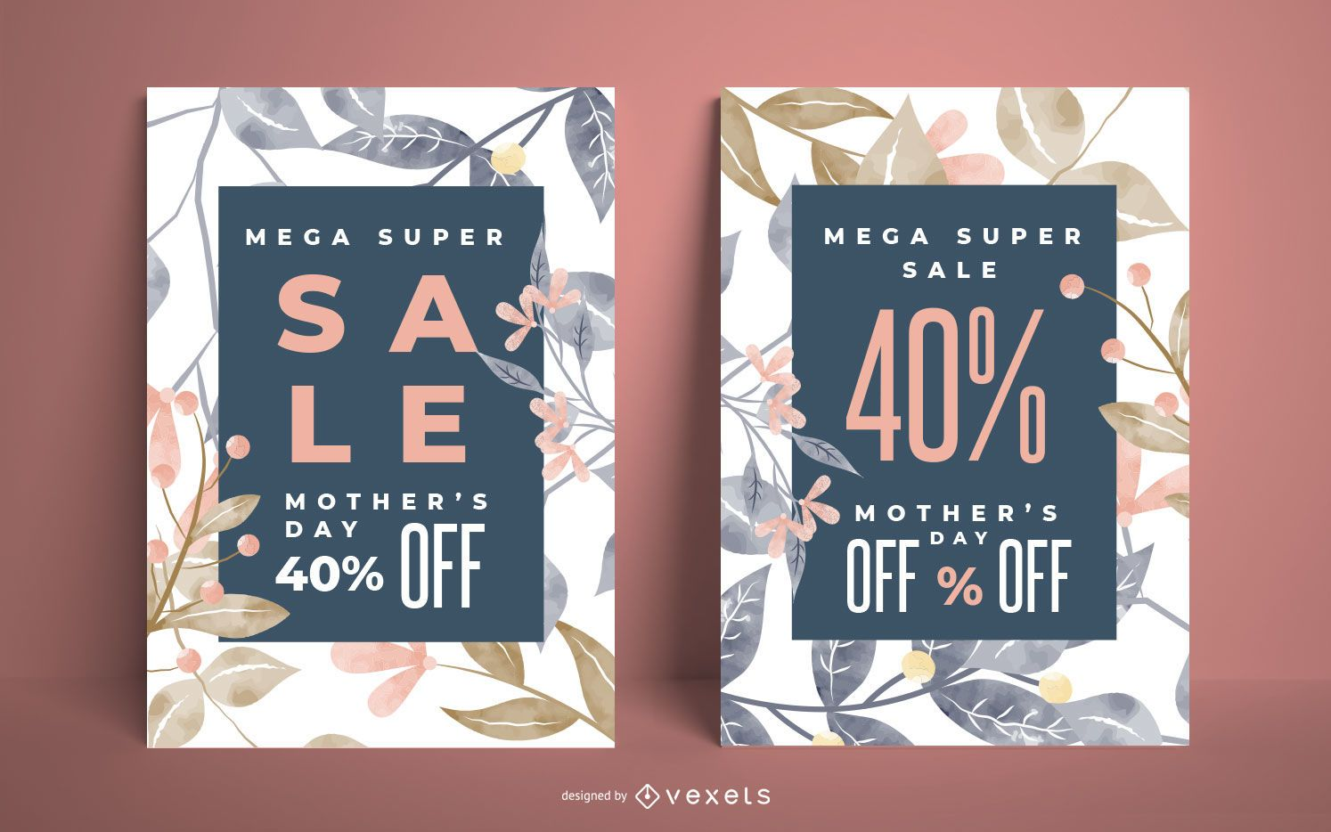 Mother's day sale poster set