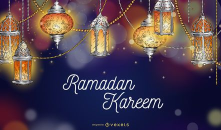 Ramadan Kareem Lights Background