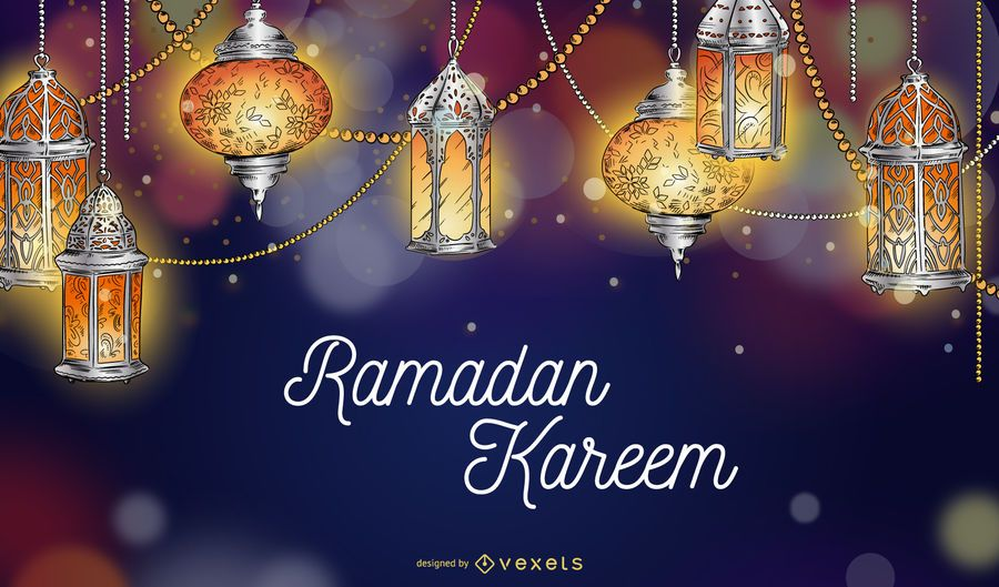 Ramadan Kareem Lights Background