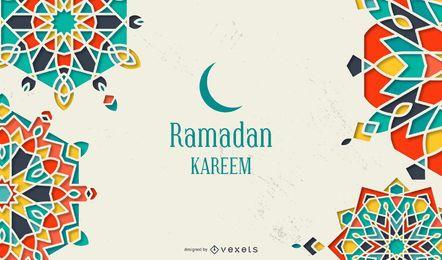 Fondo de Ramadán Kareem Mandala