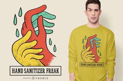 Desinfetante para as mãos Anormal Design de t-shirt