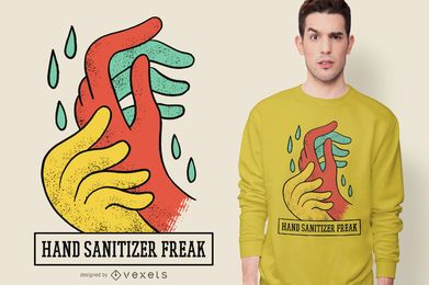 Diseño de camiseta Freak Sanitizer Hand