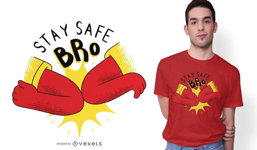 Coronavirus Elbow Bump T-Shirt Design