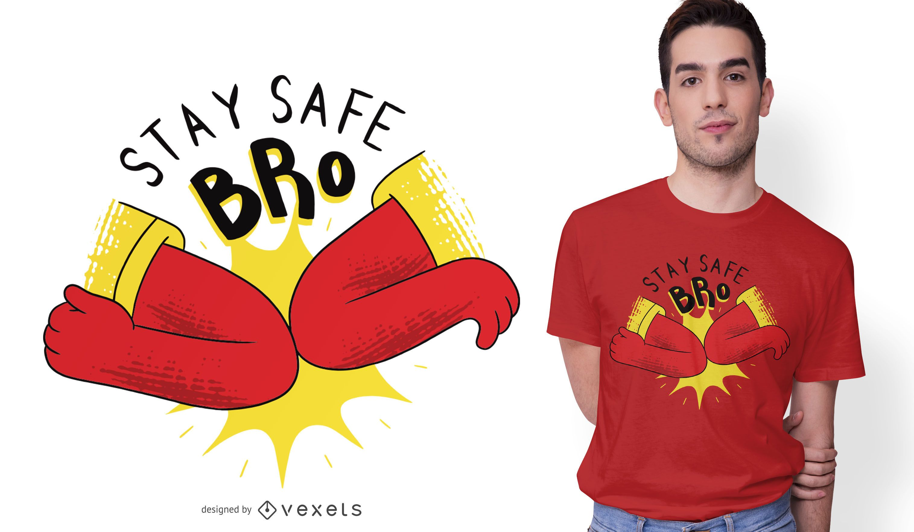 Diseño de camiseta Coronavirus Elbow Bump